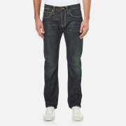 Edwin Men's ED-55 Dusk Used Relaxed Tapered Jeans - Dark Blue