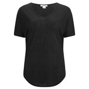 Helmut Lang Women's Entity Jersey Scoop T-Shirt - Black