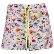Markus Lupfer Women's Sticker Print Sweat Shorts - Pink