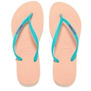 Havaianas Women's Slim Logo Flip Flops - Light Pink