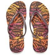 Havaianas Women's Slim Animals Flip Flops - Aubergine