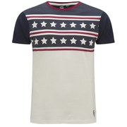 Soul Star Men's Mt Margin Stars and Stripes T-Shirt - Navy