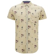 Soul Star Men's Ms Hula 9 Printed Shirt - Stone