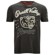 Ringspun Men's Clubber Death Valley Printed T-Shirt - Faded Black