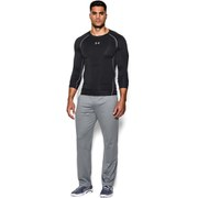 Under Armour Men's Armour Heat Gear Long Sleeve Compression Training Top - Black/Steel