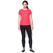 Under Armour Women's Fly Fast Mesh Short Sleeve Running T-Shirt - Pink Shock/Reflective