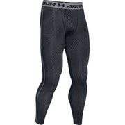 Under Armour Men's Armour Heat Gear Printed Training Leggings - Black/Steel