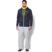 Under Armour Men's Storm Cotton Rival Full Zip Hoody - Midnight Navy/Yellow