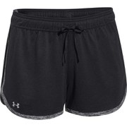 Under Armour Women's Tech Training Shorts - Black/Black/Metallic Silver
