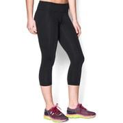 Under Armour Women's Perfect Tight Capri Pants - Black/Metallic Pewter