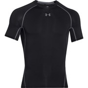 Under Armour Men's Armour Heat Gear Short Sleeve Training T-Shirt - Black/Island Blue