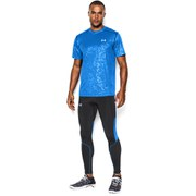 Under Armour Men's Compression Running Tights - Black/Blue Jet/Reflective