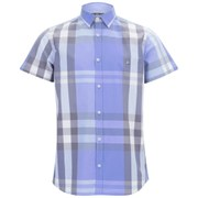 Duck and Cover Men's Cecil Check Short Sleeve Shirt - Ice Blue