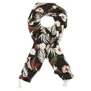Maison Scotch Women's Silky Feel Scarf Tropical Prints - Multi