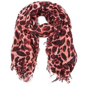Maison Scotch Women's Printed Lightweight Animal Scarf - Pink