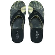 Animal Men's Jekyl Soft Leaf Print Flip Flops - Green