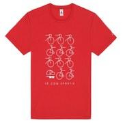 Le Coq Sportif Graphic Cap T-Shirt - Red