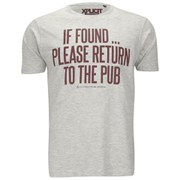 Xplicit Men's If Found T-Shirt - Light Grey Marl