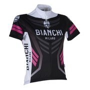 Bianchi Women's Navia Short Sleeve Jersey - Black/Pink