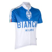 Bianchi Nalon Short Sleeve Jersey - White/Blue