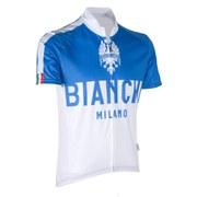 Bianchi Nalon Short Sleeve Jersey - White/Blue