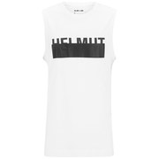 Helmut Lang Men's Jersey Logo Tank Top - White