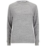 T by Alexander Wang Women's Nep French Terry Crew Sweatshirt - Heather Grey
