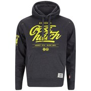 Crosshatch Men's Squirm Neon Print Hoody - Charcoal Marl