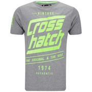 Crosshatch Men's Sceran T-Shirt - Mid Grey Marl