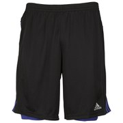 adidas Response Men's Dual Shorts - Black/Night Flash