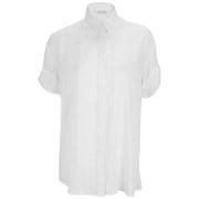 Samsoe & Samsoe Women's Moffa Short Sleeved Shirt - White