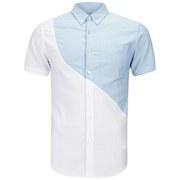 Opening Ceremony Men's Kole Oxford Slim-Fit Short Sleeved Tide Shirt - White/Multi