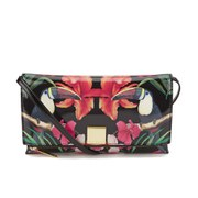 Ted Baker Traci Toucan Patent Crosshatch Cross Body Clutch Bag - Black