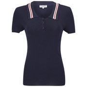 Opening Ceremony x Chloe Sevigny Women's Westerburg Short Sleeve Polo Shirt- Navy