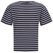 Armor Lux Men's Stripe Crew Neck T-Shirt - Navy/Nature