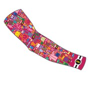 Sugoi I Heart Bikes Arm Warmers - Pink