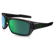 Oakley Turbine Sunglasses - Grey Smoke/Jade Iridium Polarized