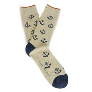 Nudie Jeans Men's Anchor Socks - Navy