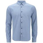 HUGO Men's Ero3 Long Sleeve Shirt - Light Blue