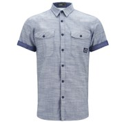 Jack & Jones Men's Short Sleeved Erik Shirt - Light Denim