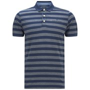 Jack & Jones Men's Cooper Striped Polo Shirt - Black Navy