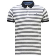 Jack & Jones Men's Cooper Striped Polo Shirt - Grey
