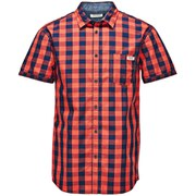 Jack & Jones Originals Men's Short Sleeved East Shirt - Red Check