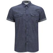 Jack & Jones Men's Short Sleeved Erik Shirt - Dark Denim