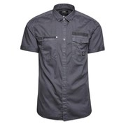 Jack & Jones Men's Short Sleeved Bade Shirt - Grey