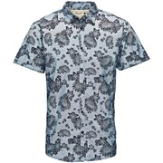 Jack & Jones Originals Men's Short Sleeved Printed Van Shirt - Bering Sea