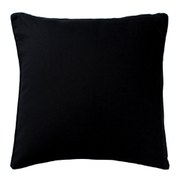 Black Linen Cushion - Black