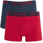 Ben Sherman Men's 2-Pack George Trunks - Spot Print/Red