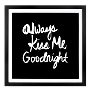 Parlane Kiss Me Wall Art - Black