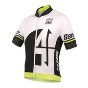 Santini Interactive 2.0 Aero Short Sleeve Jersey - Yellow